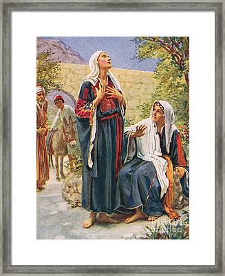 Elizabeth Framed Print by Harold Copping
