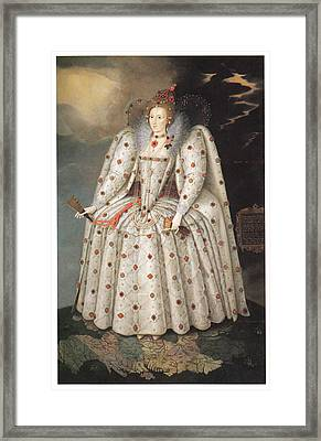 Elizabeth I Of England Framed Print by Marcus Gheeraerts the Younger