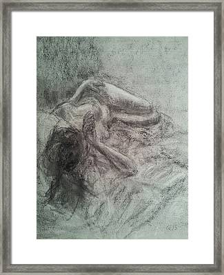 Elizabeth In Repose Framed Print by Quin Sweetman