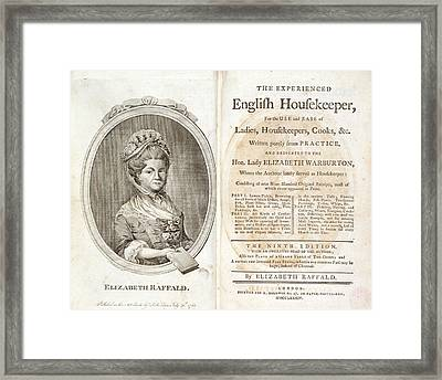 Elizabeth Raffald Framed Print by British Library