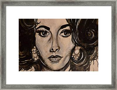 Framed Print featuring the painting Elizabeth by Sandro Ramani