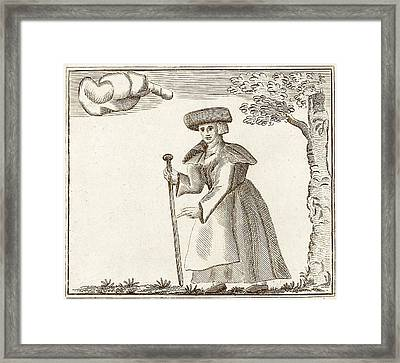 Elizabeth Sawyer Framed Print by Print Collection, Miriam And Ira D. Wallach Division Of Art, Prints And Photographs/new York Public Library