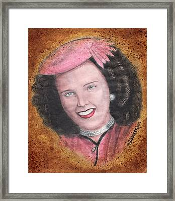 Elizabeth Short Before Framed Print by David Shumate