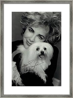 Elizabeth Taylor And Friend Framed Print by Studio Photo