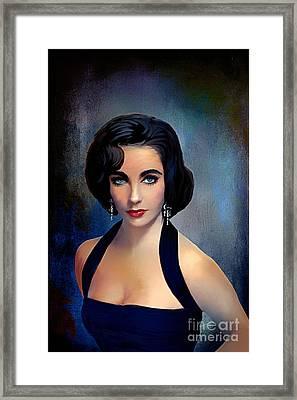 Elizabeth Taylor  Framed Print by Andrzej Szczerski