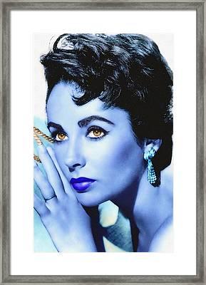 Elizabeth Taylor Framed Print by Art Cinema Gallery
