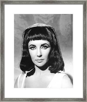 Elizabeth Taylor In Cleopatra  Framed Print