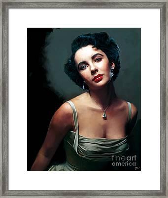 Elizabeth Taylor Framed Print by Paul Tagliamonte