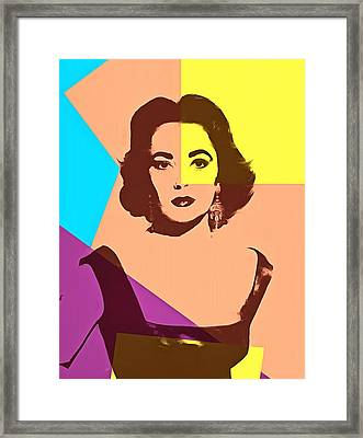 Elizabeth Taylor Pop Art Framed Print by Dan Sproul