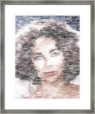 Elizabeth Taylor Typo Framed Print by Taylan Apukovska