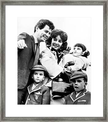 Elizabeth Taylor With Family Framed Print by Retro Images Archive