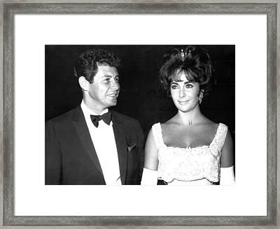 Elizabeth Taylor With Husband Framed Print by Retro Images Archive
