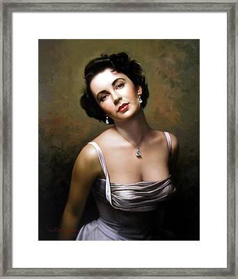 Elizabeth Taylor Framed Print