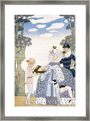 Elizabethan England Framed Print by Georges Barbier