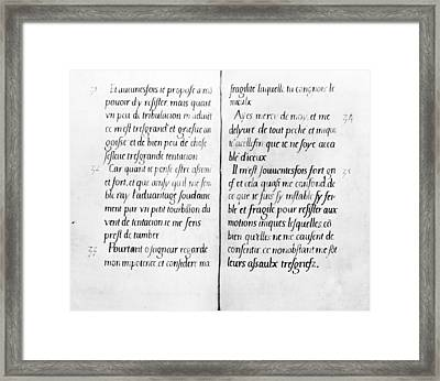 Elizabethan Manuscript Framed Print