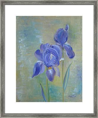 Elizabeth's Irises Framed Print