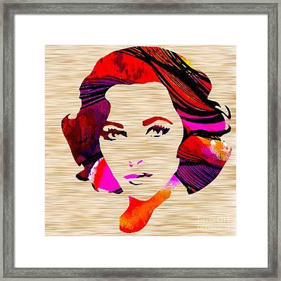 Elizabethtaylor Framed Print by Marvin Blaine