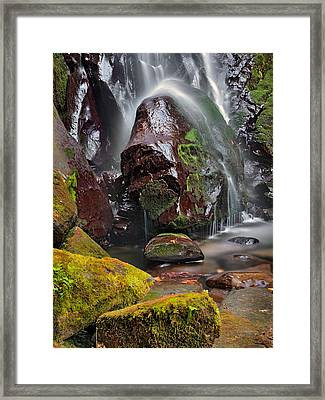 Elk Creek Falls Framed Print by Leland D Howard