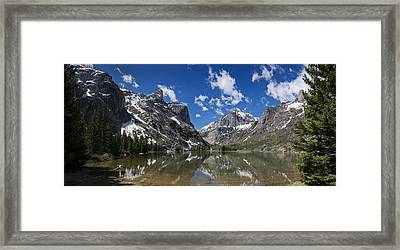 Elk Lake Panorama 1 Framed Print