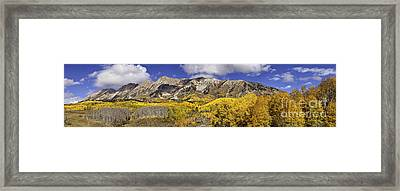 Elk Mountain Panorama Framed Print