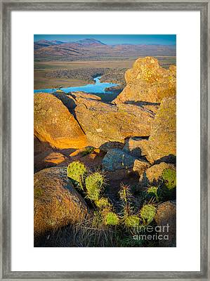 Elk Mountain Sunset Framed Print by Inge Johnsson