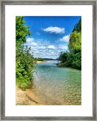 Elk River- Elk Rapids Michigan Framed Print by Michelle Calkins