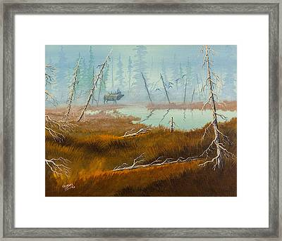 Framed Print featuring the painting Elk Swamp by Richard Faulkner