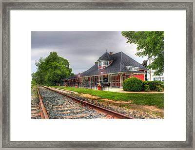 Elkhart Lake Historic Train Depot Framed Print