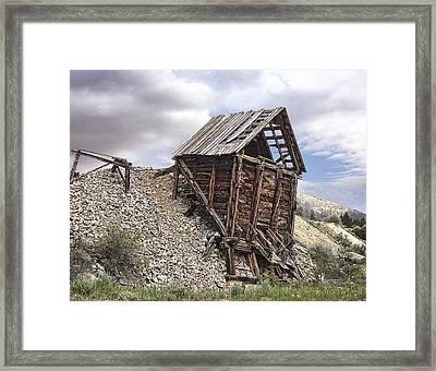 Elkhorn Ghost Town Mine Chute Terminus - Montana Framed Print by Daniel Hagerman