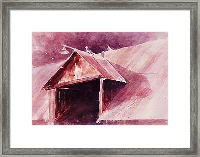 Framed Print featuring the painting Elkhorn Valley Barn by John  Svenson
