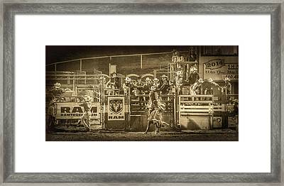 Elks Rodeo - 2014 Framed Print