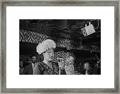 Ella Fitzgerald And Dizzy Gillespie William Gottleib Photo Unknown Location September 1947-2014. Framed Print by David Lee Guss