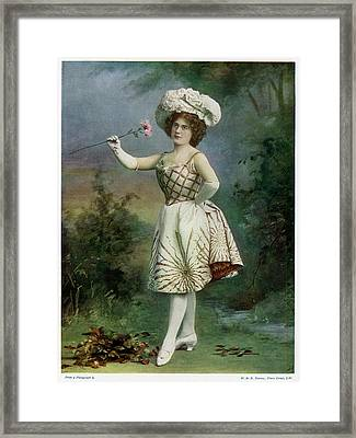 Ella Snyder, Actress In 'the Belle Framed Print by Mary Evans Picture Library