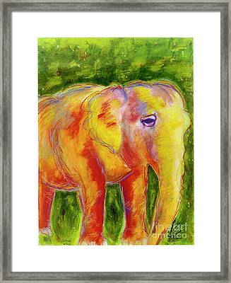 Framed Print featuring the painting Elle by Beth Saffer