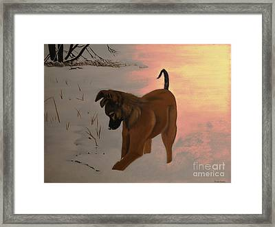 Framed Print featuring the painting Ellee by Stuart Engel