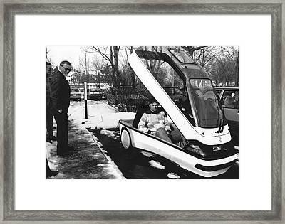 Ellert Electric Car At Ibm Framed Print