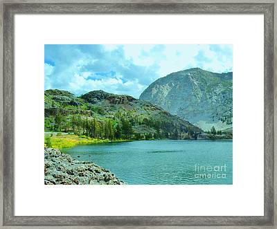 Framed Print featuring the photograph Ellery Lake by Marilyn Diaz
