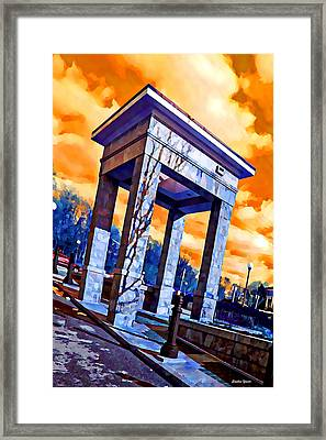 Ellicott City Courthouse Path Framed Print by Stephen Younts