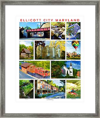 Framed Print featuring the photograph Ellicott City Maryland by Dana Sohr