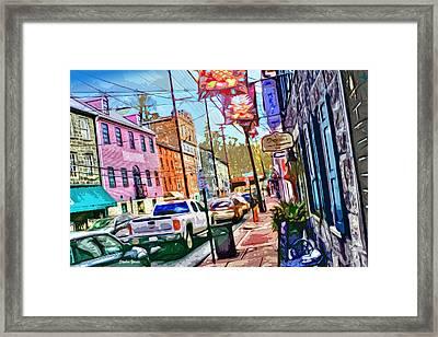 Ellicott City Street Framed Print by Stephen Younts