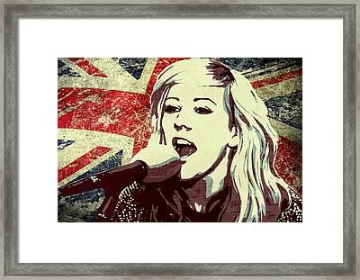 Ellie Goulding 3 Framed Print by Irina Effa