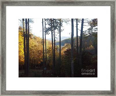 Framed Print featuring the painting Ellijay Color by Jan Dappen