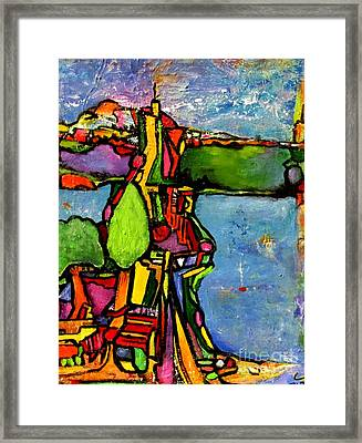 Elliott Bay Framed Print by Chaline Ouellet