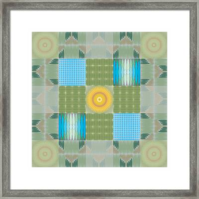 Framed Print featuring the digital art Ellipse Quilt 1 by Kevin McLaughlin