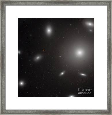 Elliptical Galaxy, Ngc 4874 Framed Print by Science Source