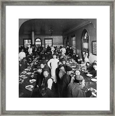Ellis Island Dining Hall Framed Print by Granger