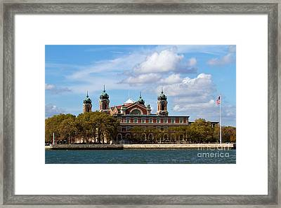 Framed Print featuring the photograph Ellis Island by Eleanor Abramson