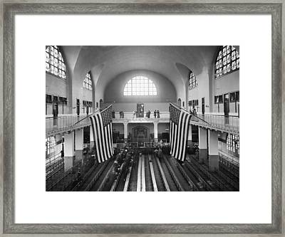 Ellis Island Great Hall Framed Print by Granger