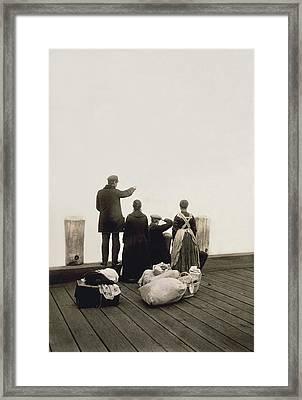 Ellis Island Immigrants Framed Print