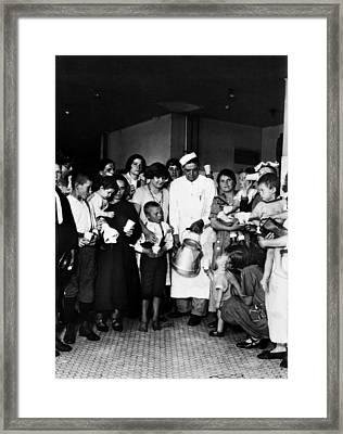 Ellis Island Milkman, 1925 Framed Print by Granger